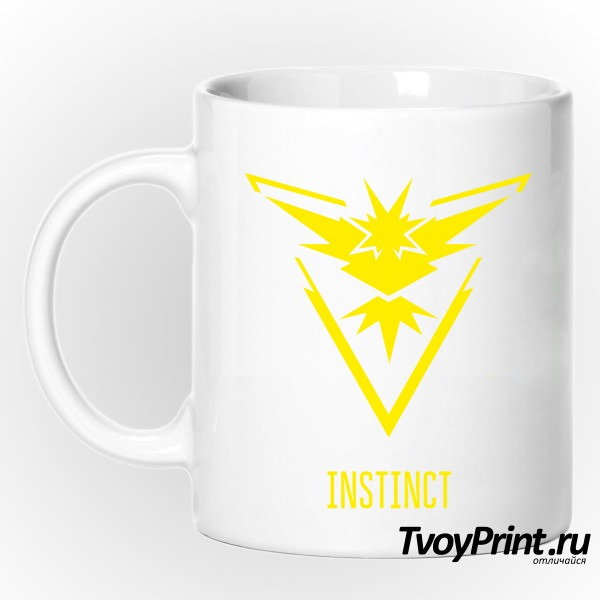 Кружка Yellow Team Instinct Pokemon Go Желтая команда