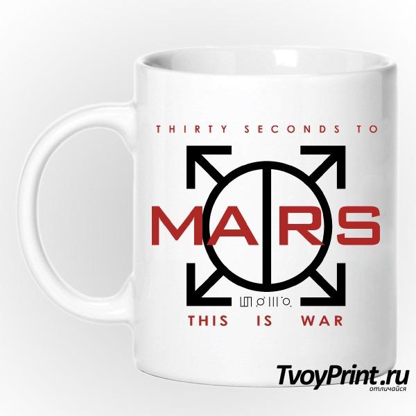 Кружка 30 seconds to mars Landing