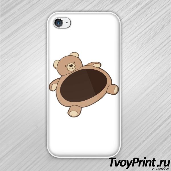 Чехол iPhone 4S Пузатый мишка