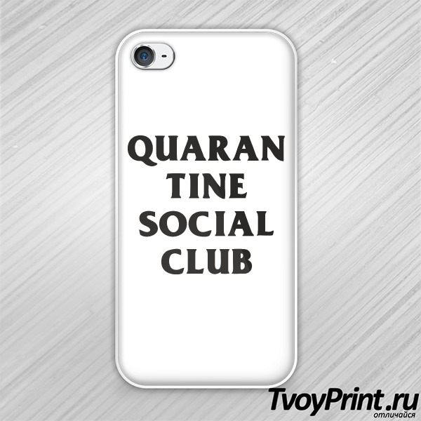 Чехол iPhone 4S QUARAN TINE SOCIAL CLUB