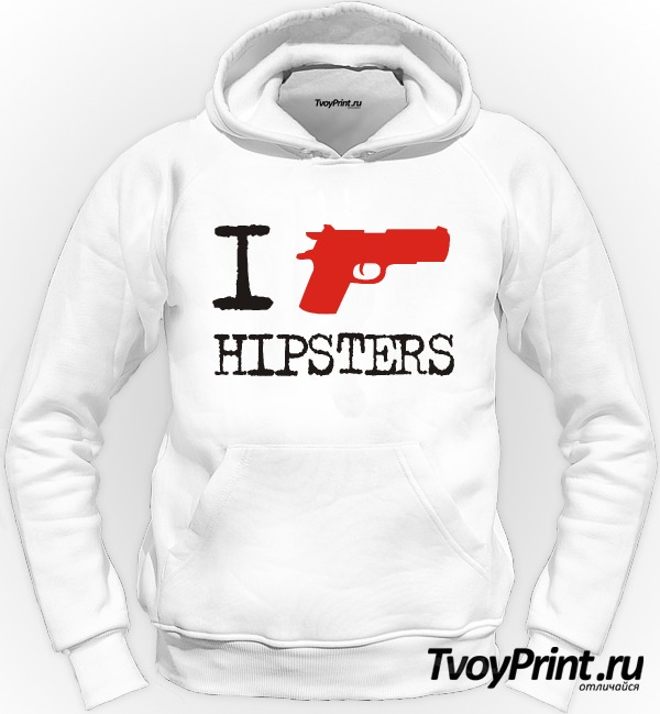Толстовка I Shoot Hipsters