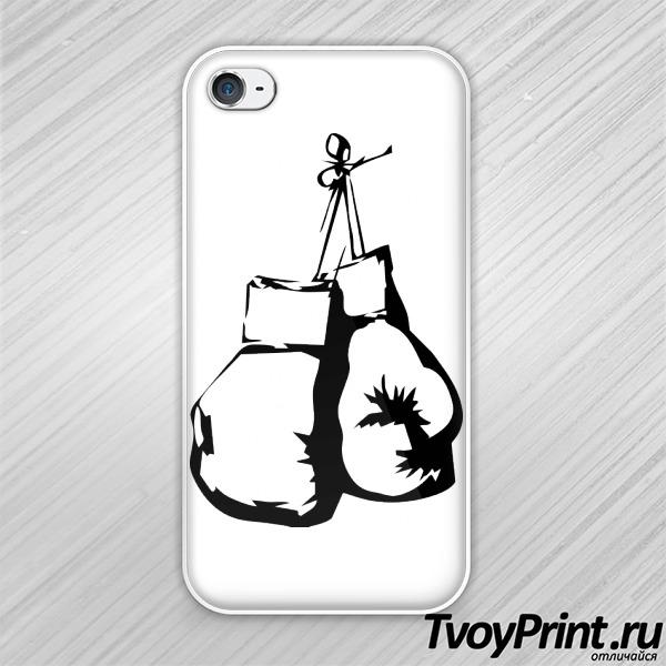 Чехол iPhone 4S Боксерские перчатки