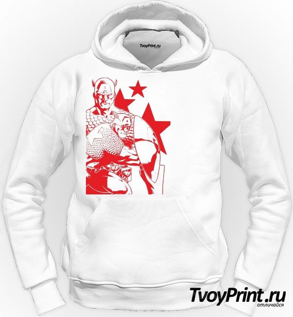 Толстовка Капитан Америка (красный)