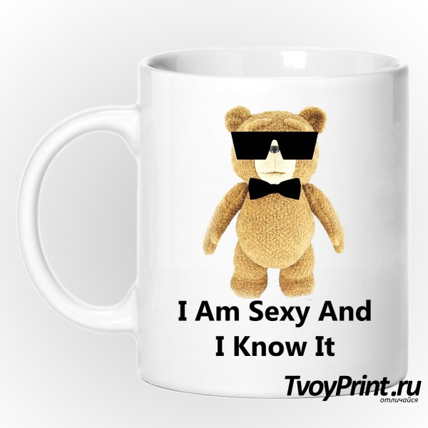 Кружка I am Sexy and I know it (TED)