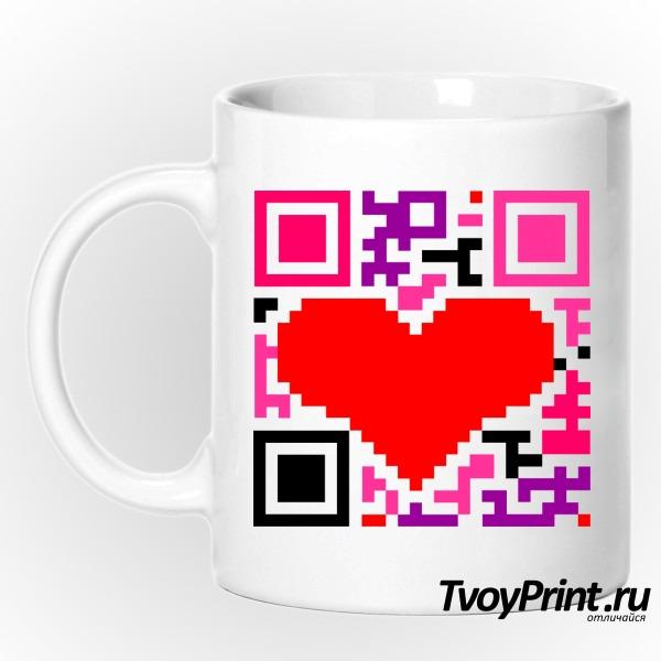 Кружка QR-код  love