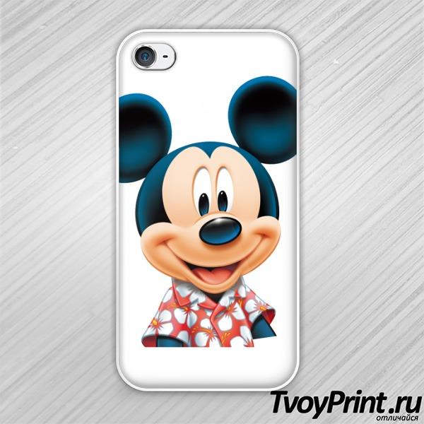 Чехол iPhone 4S Mickey Mouse (Микки Маус