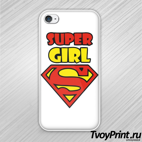 Чехол iPhone 4S Super girl