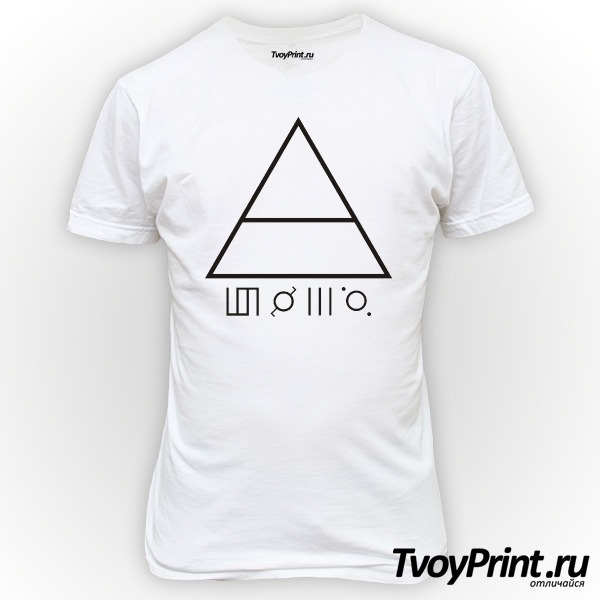 Футболка 30 seconds to mars Глифы
