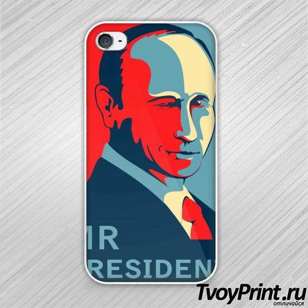Чехол iPhone 4S Путин - Hope
