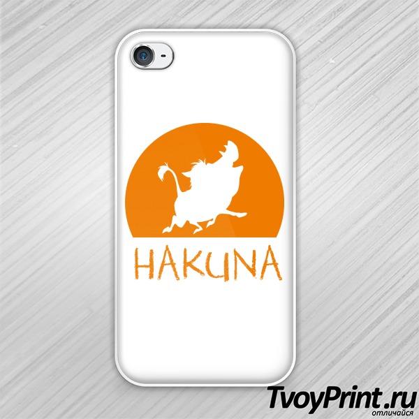 Чехол iPhone 4S  Hakuna Matata (пумба)