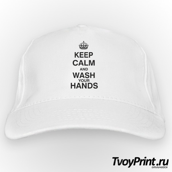 Бейсболка KEEP CALM AND WASH YOUR HANDS