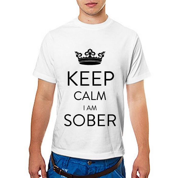 Футболка Keep calm Im sober