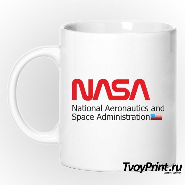 Кружка NASA С ФЛАГОМ