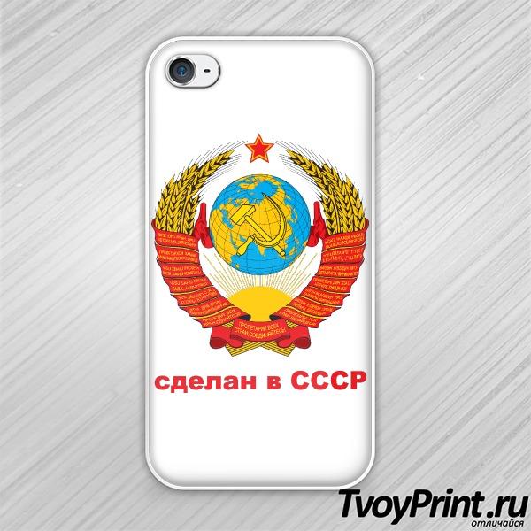 Чехол iPhone 4S Сделан в СССР...