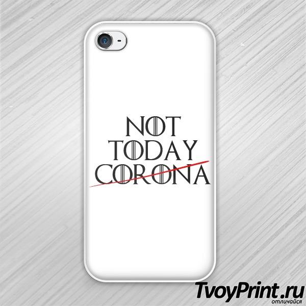 Чехол iPhone 4S Not TODAY CORONA