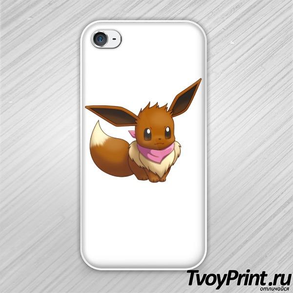 Чехол iPhone 4S Иви (Eevee) покемон
