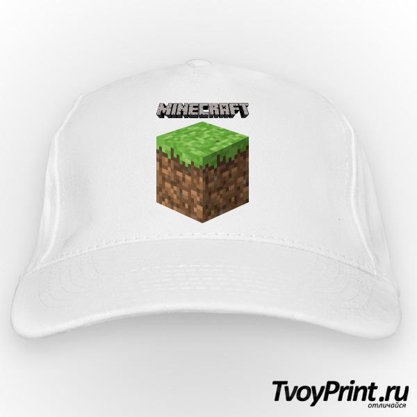 Бейсболка Майнкрафт Логотип с Блоком Земли