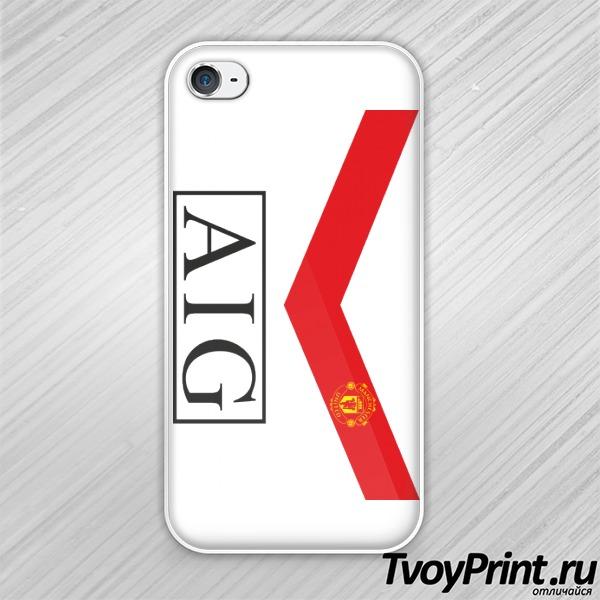 Чехол iPhone 4S Manchester United (форма 1)
