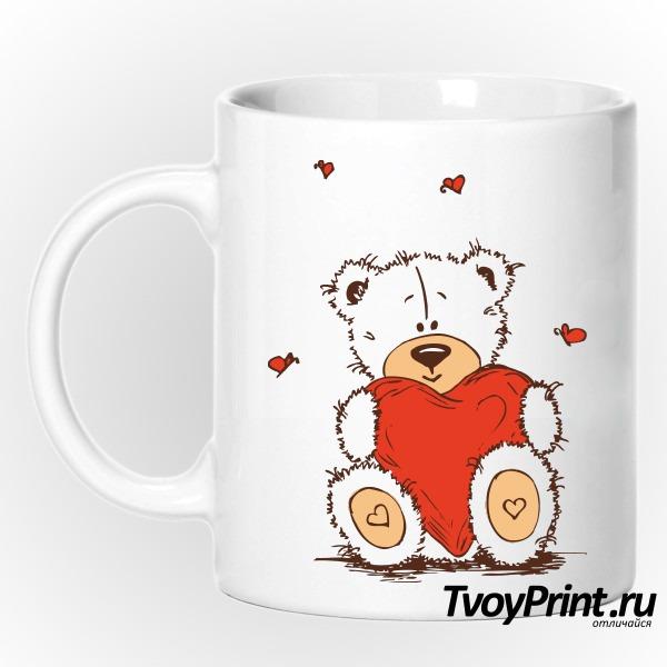 Кружка Тедди с сердцем