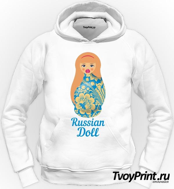 Толстовка Матрешка блондинка